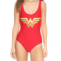 Wonder Woman Red One Piece Swimsuit