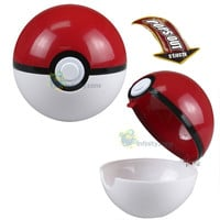 NEW POKEMON Pokeball Plastic Pop-up Ball Toy / Free One Pikachu Figure