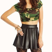 camouflage-cropped-top GREENBLACK - GoJane.com