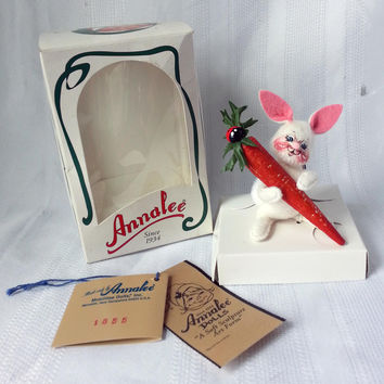 Annalee Doll 3 Inch Bunny 1998 Wabit with Cawit