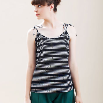 CHRISTMAS SALE, Striped top, Womens top, Sleeveless top, Summer tank top, Summer womens top, Elegant top