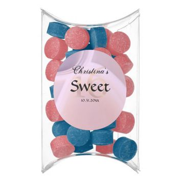 Girly Rose Pink Purple Gemstone Sweet 16 Party Chewing Gum Favors
