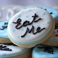 A dozen Eat Me Cookies for your Alice in by CraftedCookies on Etsy
