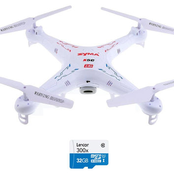 Explorers 2.4G 4CH 6-Axis Gyro RC Quadcopter With HD Camera and Memory Card Upgrade
