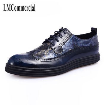 Bullock new autumn winter British retro zipper leather shoes breathable sneaker fashion boots men casual shoes,handmade