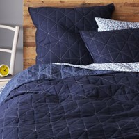 Nomad Coverlet + Shams - Deep Sea