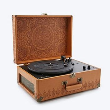 Crosley Keepsake Embossed Turntable EU Plug - Urban Outfitters