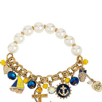 NAUTICAL CHARM HALF STRETCH BRACELET