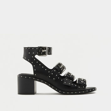 High heel studded sandals. - Sandals - Shoes - Woman - PULL&BEAR United Kingdom