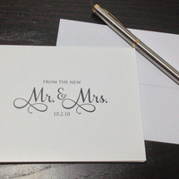 Personalized Thank You Notes  WEDDING THANK by SoireeCustomPaperCo