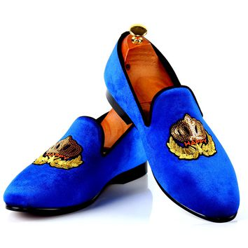 Harpelunde Fashion Shoes Men For Wedding Prince Albert Slippers Velvet Loafers Red Bottom Sole Free Shipping Size 7-14