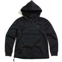 Plated Half Zip Pullover Hoody Black