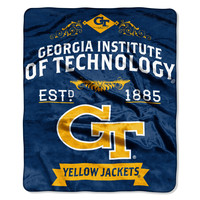 "Georgia Tech College """"Retro"""" 50x60 Raschel Throw"