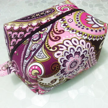 SPECIAL OFFER, large cosmetic bag, floral makeup box, nailpolish organizer, zipper purse