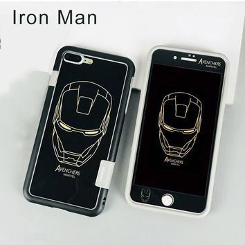 ironman phone case black for iphone 6/6s/7/8/plus