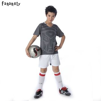 High quality soccer uniform for boys custom sports kits school team soccer jerseys football training suits set child new