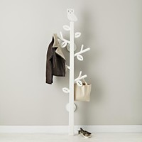 The Land of Nod | Kids Storage: Kids White Owl Clothes Tree in Shelf & Wall Storage