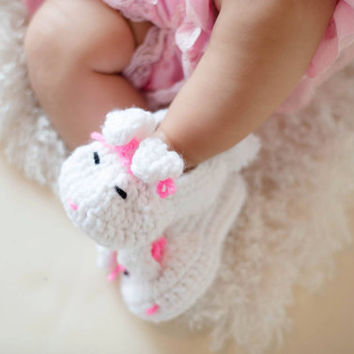 Baby booties - Baby Easter - Baby bunny slippers - Easter baby shoes - bunny slippers for babies - Girls Bunny slippers - baby slippers