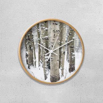 "Winter Forest 10"" Wall Clock"