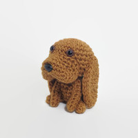 SALE / Bloodhound Amigurumi Dog Stuffed Animal Handmade Crochet Puppy Doggie Plush Doll Scent Hound