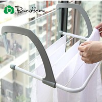 Outdoor Folding Rack For Clothes Towel Dryer Rack Hanger Shelf Drying Storage Radiator 2016 Metal Hook Large Clip Hot ButiHome