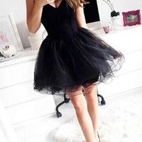 Black Short Prom Dresses, Short Black Homecoming Dresses/ Graduation Dresses