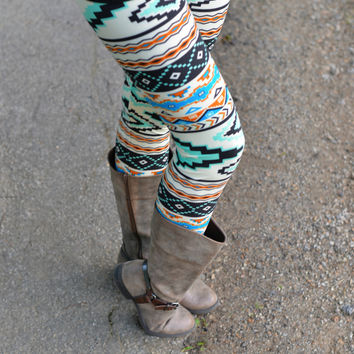 Mint To Be Aztec Print Leggings