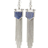Fringed Faux Stone Earrings