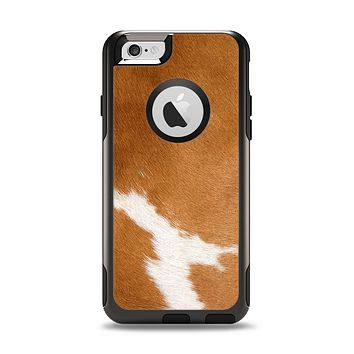 The Real Brown Cow Coat Texture Apple iPhone 6 Otterbox Commuter Case Skin Set
