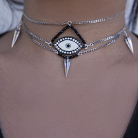 Crystal Eye Spike Choker