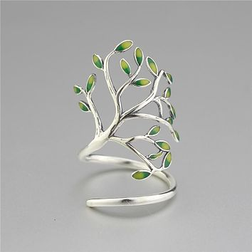 Women Tree Branch Leave Ring