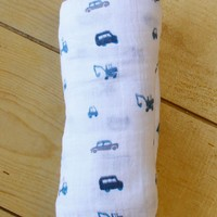 Blue Truck Swaddle