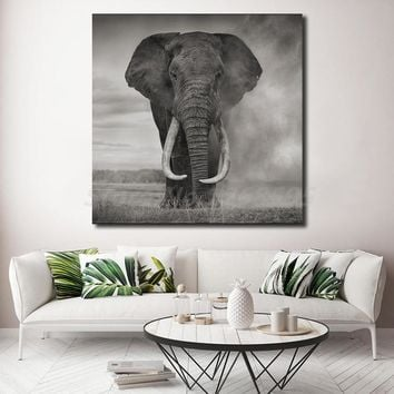 Wild Animals Elephant Africa Nature Canvas Posters Prints Abstract Wall Art Painting Decorative Picture Home Decoration Artwork