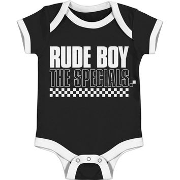 Specials Boys' Rude Boy Bodysuit Black Rockabilia