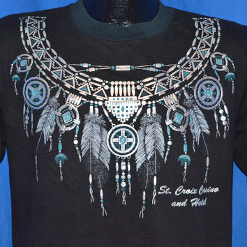90s St Croix Casino Native American Necklace t-shirt Medium