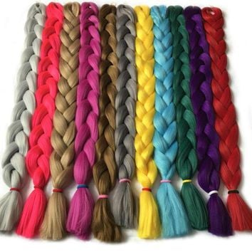 CUPUPO2 VERVES Synthetic Braiding Hair kanekalon 82 inch 165g/pcs Jumbo Braid Bulk African Hair Crochet Hair extensions,yaki texture