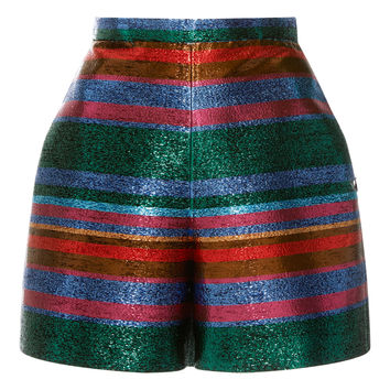 Striped Lurex Shorts | Moda Operandi