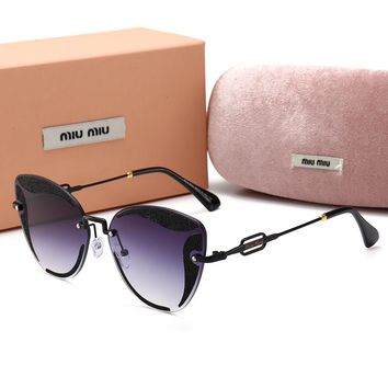 Miu Miu Fashionable Woman Summer Sun Shades Eyeglasses Glasses Sunglasses