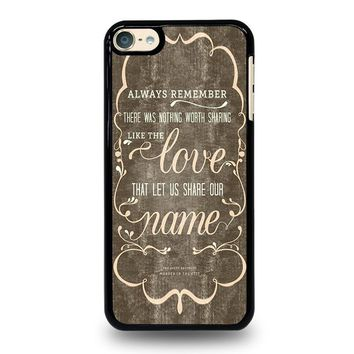 THE AVETT BROTHERS QUOTES iPod Touch 4 5 6 Case Cover