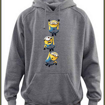 minion  custom crewneck hoodie for unisex