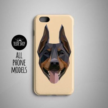 Geometric Doberman Pinscher iPhone X Case iPhone 8 Plus Case iPhone 7 Case Phone Case iPhone 8 Case iPhone 7 Plus Case Dog Lover Pet Gift