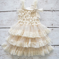 2015 Fluffy 3 Layer Flower Girl Dress Baby Girls Princess Lace Party Dress Sleeveless Wedding Pageant party costumes clothes