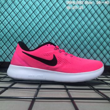 KUYOU N152 Nike Air Free 5.0 Flyknit Breathable Causal Running Shoes Sneaker Pink