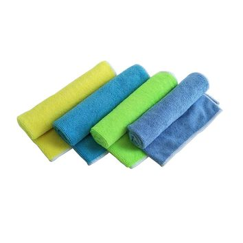 Zipsoft 5 Pcs/lot 40*40cm Kitchen Towel 2017 New Face Towels Blue Yellow Microfiber Hand Towels cleaning rags Kitchen Dish Cloth