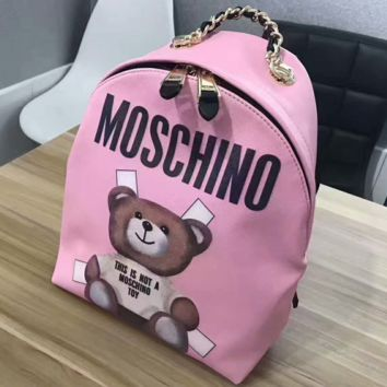 """MOSCHINO"" Casual Sport Laptop Bag Shoulder School Bag Backpack G-A-GHSY-1"