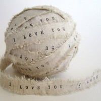 Personalized Ribbon DECORATIVE Ball Personalize I Love You Ribbon Personalized Shabby Chic Wedding D | Luulla