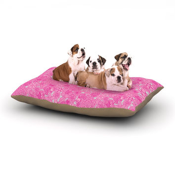 "Julia Grifol ""Welcome Birds To My Pink Garden"" Dog Bed"