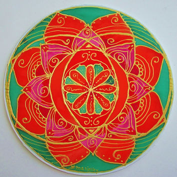 mandala art,Sacral chakra, chakra art, meditation art, spiritual art, yoga art, reiki art, metaphysical, new age, pagan, wiccan