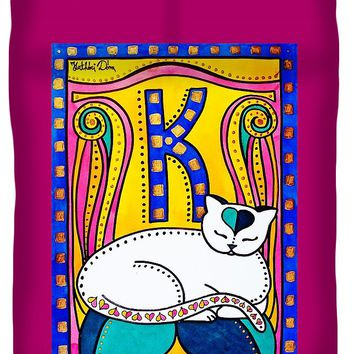 Peace And Love - Cat Art By Dora Hathazi Mendes Duvet Cover