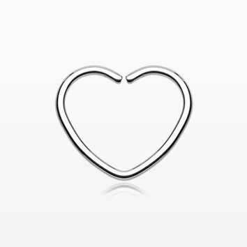 Heart Bendable Twist Hoop Ring